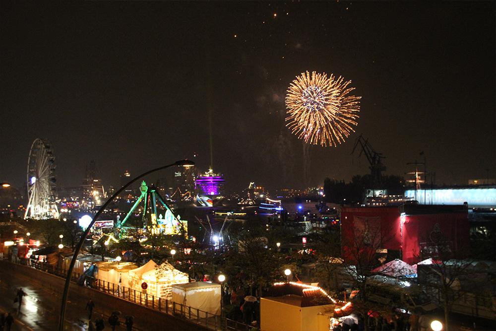 Panorama Lounge Hamburg mit Feuerwerk!